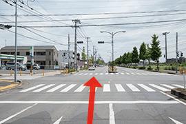 さくら都市 市原支店 交通案内(五井駅方面より)2.道なりに直進