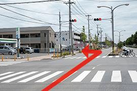 さくら都市 市原支店 交通案内(五井駅方面より)3.3つ目の信号を過ぎてすぐ左折