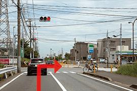 さくら都市 市原支店 交通案内(館山自動車道 市原ICより)3.踏切を過ぎて2つ目の信号を右折